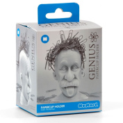 Genius Magnetic Paperclip Holder. Einstein Head Paper Clip Holder - Create wacky paperclip hairstyles. Great Science Gift