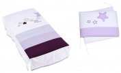 Alondra 9L2 - 075 Set Quilt and Protector, Cot 60 x 120 cm, 2 Pieces, Purple