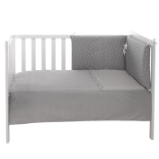 Belino Stars - Quilt and Protector for Cot 60 x 120 cm, Grey