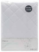 M & Co Classic White Spiral Fibre Bounce Back Anti-Allergy Extra Comfort Mattress Protector Cover White King