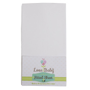 Love Baby Co 100% Cotton Premium Fitted Travel Cot Sheet made especially to fit 95 x 65cm