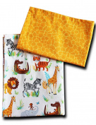 'boubalou Jungle Friends 100% Cotton Children's Bed Linen 100 x 135 cm and 40 x 60 cm with Zip
