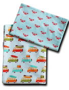 "'boubalou ""Beach Day 100% Cotton Children's Bed Linen 100 x 135 cm and 40 x 60 cm with Zip"