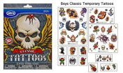 Boys Classic Temporary Tattoos - 50+ assorted tattoos by Themed Tattoos by Savvi