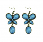 Hosaire 1 Pair Retro Elegant Women Girls Jewellery Folk Butterfly Earrings Stud Clip For Holiday Gifts