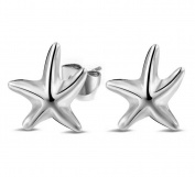 Hosaire 1 Pair Fashion Elegant Women Girls Jewellery Crystal Starfish Earrings Stud Clip For Holiday Gifts