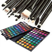 Ryu@ 120 Colours Professional Dazzling Matte & Shimmer 3in1 Eyeshadow Makeup Cosmetic Palette with 20 Eyeshadow Brush Set