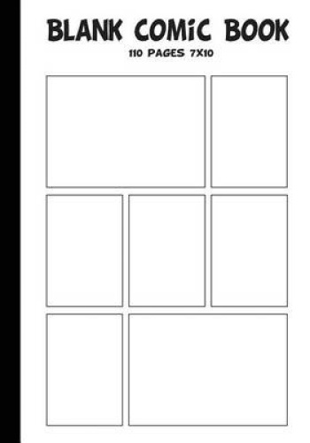 make your own comic strip template - blank comic strip blank comic book 7 x10 with 7 panel