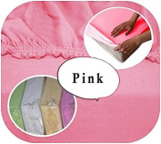 Jersey 100% Cotton Fitted Sheet Suits Cot 120x60 cm - PINK