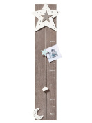 Walther Design Wooden Height Chart MB200 M Starlet Home Decor, Grey, 20.0 x 2.50 x 80.0 cm