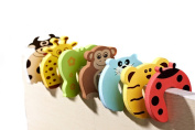 Lalang 10PCS Baby Safety Door Stoppers Cartoon Animal Jammers Stop Edge Corner Guards Baby Safety Finger Protector
