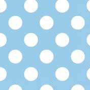 13cm Baby Blue Polka Dot Paper Napkins, Pack of 16