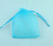100 Pc Organza Gift Bag Pouches With Draw String, Wedding Party