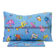TOYS - Set of Bed Linen for cot BABY OF ITALIAN Corredo® azure