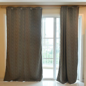 Souarts Grey Colour Blackout Fully Lined Ready Made Door Window Shading Curtain Scarf Valance 1pc