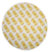 EXIU Bohemian Round Tablecloth Beach Tapestry Towel with Tassel, 150cm