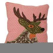 45cm Reindeer Stag Textured Filled Cushion & Cover Sofa Pillow Mens Unique Gift