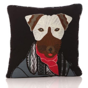 45cm Dog Print Textured Filled Cushion & Cover Sofa Pillow Mens Unique Gift