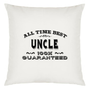 All Time Best Uncle Design Large Cushion Cover with Filling