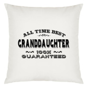 All Time Best Granddaughter Design Large Cushion Cover with Filling
