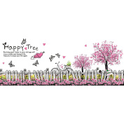 HimanJie Love Tree Foot of a Wall Stickers Baseboard Stickers the Giving Tree Wall Stickers Decorations
