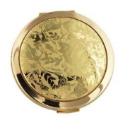 New Stratton Heritage large 75mm convertible powder compact & mirror Lorelei gilt/gold