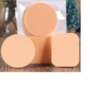 Make up Sponges,Yistu 2PCS Flesh Pro Beauty Flawless Square Round Soft Sponge