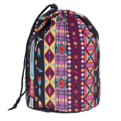 Travel Round DrawString Cosmetic Toiletry Bag African Style [034]