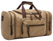 Oversized Canvas Travel Duffel Bag Big Capacity Luggage Case Weekend Bag For Business Use