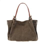 AiteFeir Fashion Womem's Lady's Handbag Totes Coloured Denim Multi Zipper Shoulder Bags Pocket Oversized Lined