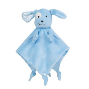 Snooze Baby Security Blankets Ultra Soft Plush Breathable Snuggle Blanket Cute Puppy, Light Blue