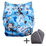 Baby Cloth Pocket Nappies with Bamboo Charcoal Inserts and Portable Bag