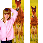 Growth Chart Art | Baby Shower Gift |Wall Hanging Wooden Growth Chart for Girls | Horse Nursery Wall Decor | Foal Colour