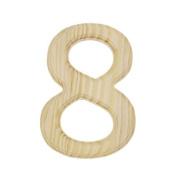 15cm Blank Unfinished Wooden Number 8