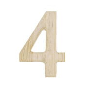 15cm Blank Unfinished Wooden Number 4