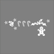 Raylinedo® Merry Christmas Removable Wall Stickers Window Sticker Art Decals Mural DIY Wallpaper for Room Decal White Colour 137*53CM