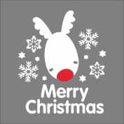 Raylinedo® Merry Christmas The White Deer And Snows Removable Wall Stickers Window Sticker Art Decals Mural DIY Wallpaper for Room Decal 49*57CM