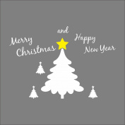Raylinedo® Merry Christmas The White Colour Christmas Tree Removable Wall Stickers Window Sticker Art Decals Mural DIY Wallpaper for Room Decal 110*76CM
