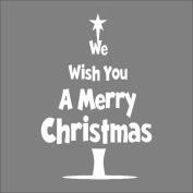Raylinedo® Merry Christmas Removable Wall Stickers Window Sticker Art Decals Mural DIY Wallpaper for Room Decal White Colour 45*67CM