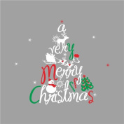Raylinedo® Merry Christmas The Colourful Christmas Tree Removable Wall Stickers Window Sticker Art Decals Mural DIY Wallpaper for Room Decal 135*120CM