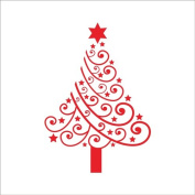 Raylinedo® Merry Christmas The Red Christmas Tree Removable Wall Stickers Window Sticker Art Decals Mural DIY Wallpaper for Room Decal 42*60CM
