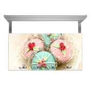 Cupcakes Children's Coat Rack with Hat Shelf and