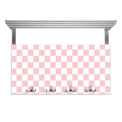 Coat Rack with Hat Shelf and Motif