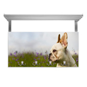 Coat Rack with Hat Rack French Bulldog Design