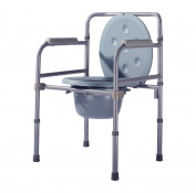 Drive Medical Bedside Commode Steel Commode Woman Disabled Elderly Mobile Toilet Seat Chair grey