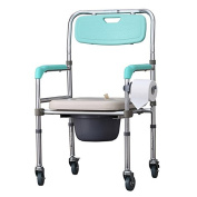 Bedside Commode Aluminium alloy elderly disabled pregnant women waterproof toilet seat chair toilet wheelchair with brake