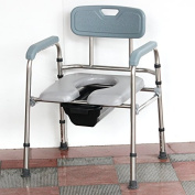Bedside Commode Steel Commode Foldable elderly pregnant women toilet adjustable mobile sitting toilet chair bath toilet chair armchair