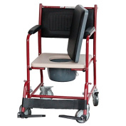 Bedside Commode folding Sitting toilet wheel chair elderly disabled disabled pregnant women sitting wheelchair removable toilet seat