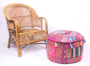 JTH Handmade IndianTraditional Home Decorative pouffe Comfortable Floor Ottoman (Size