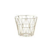 Ferm Living Wire Basket - Brass - Small - h35 x b40 cm